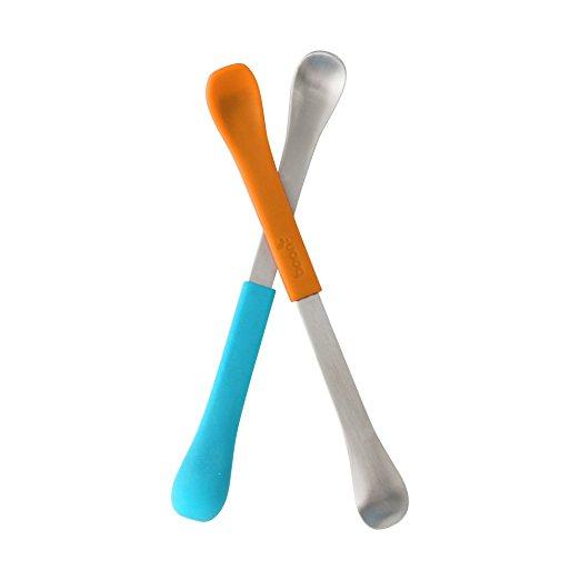 Boon - 2 in 1 Feeding Spoon Blu/Org