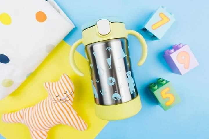 Richell - T.L.I Stainless Straw Mug Yellow