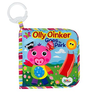 Lamaze Qlly Oinker Goes tothe park - หนังสือนิทานผ้า