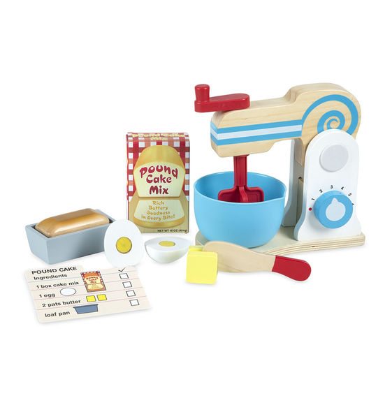 Wooden Make A Cake Mixer Set,Melissa & Doug