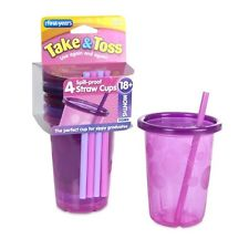 The First Years Straw Cup, Pink Take and Toss, 4 ชุด