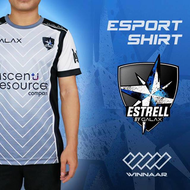 E-sport : estrell.Acp เสื้อทีมงานพิมพ์ Sublimation