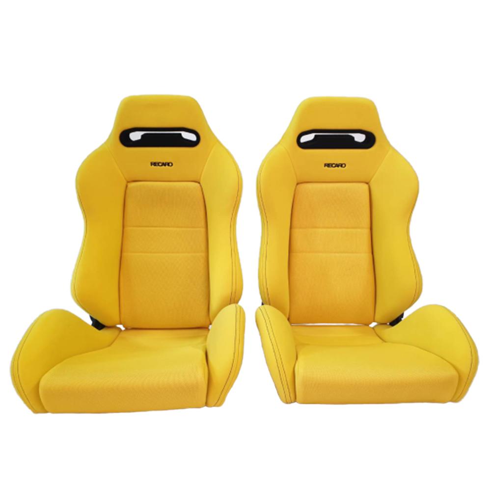 Pair of Used JDM RECARO SR3 DC2 Yellow SEATS RACING BMW HONDA PORSCHE AUTO CARS