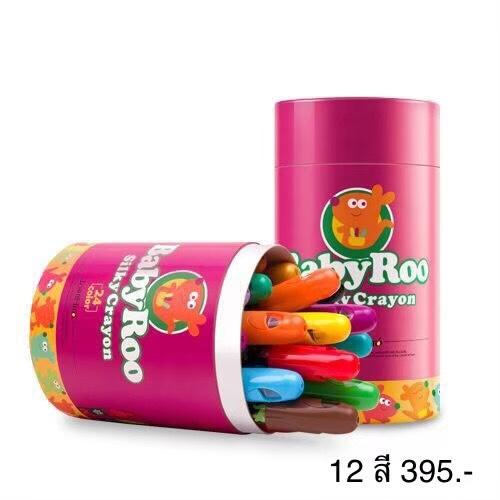 Joan Miro - Baby Roo Rotating Silky Crayons ( 12 Color )