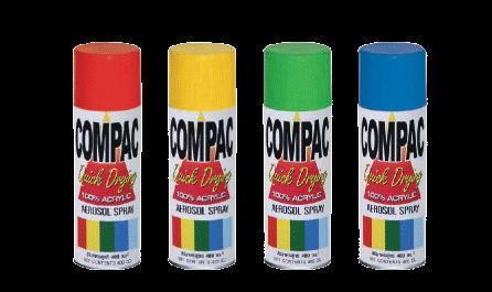 สีสเปรย์อเนกปรสงค์ COMPAC (อะครีลิค 100 %)