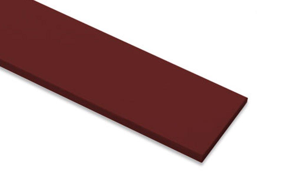 ไม้ระแนงเฌอร่า รุ่นขอบตรง ผิวเรียบ สีแดงมะฮอกกานี0.8x7.5x300 ซม.
