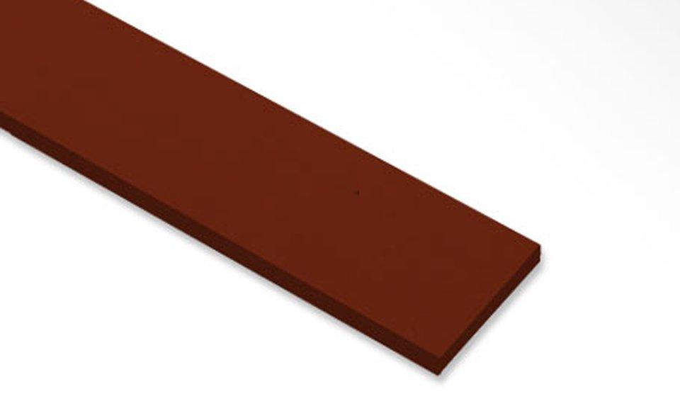 ไม้ระแนงเฌอร่า รุ่นขอบตรง ลายสัก สีแดงเชอรี่ 0.8x7.5x300 ซม.