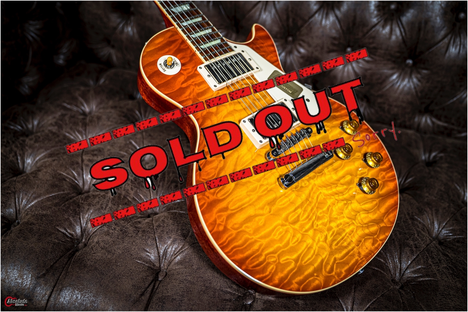 Gibson Custom Shop Re1959 Hand Select Quilt Top 5A.