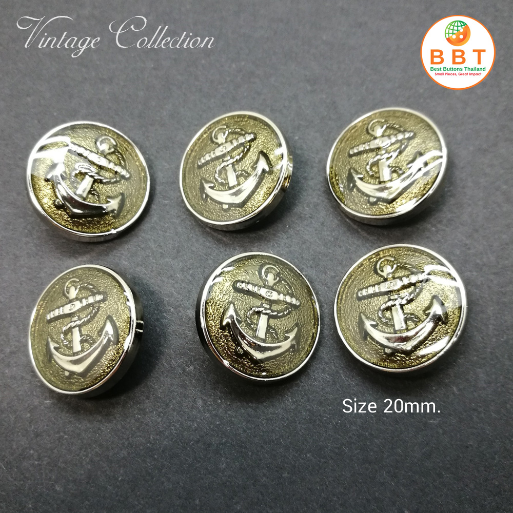 Silver Buttons 20mm