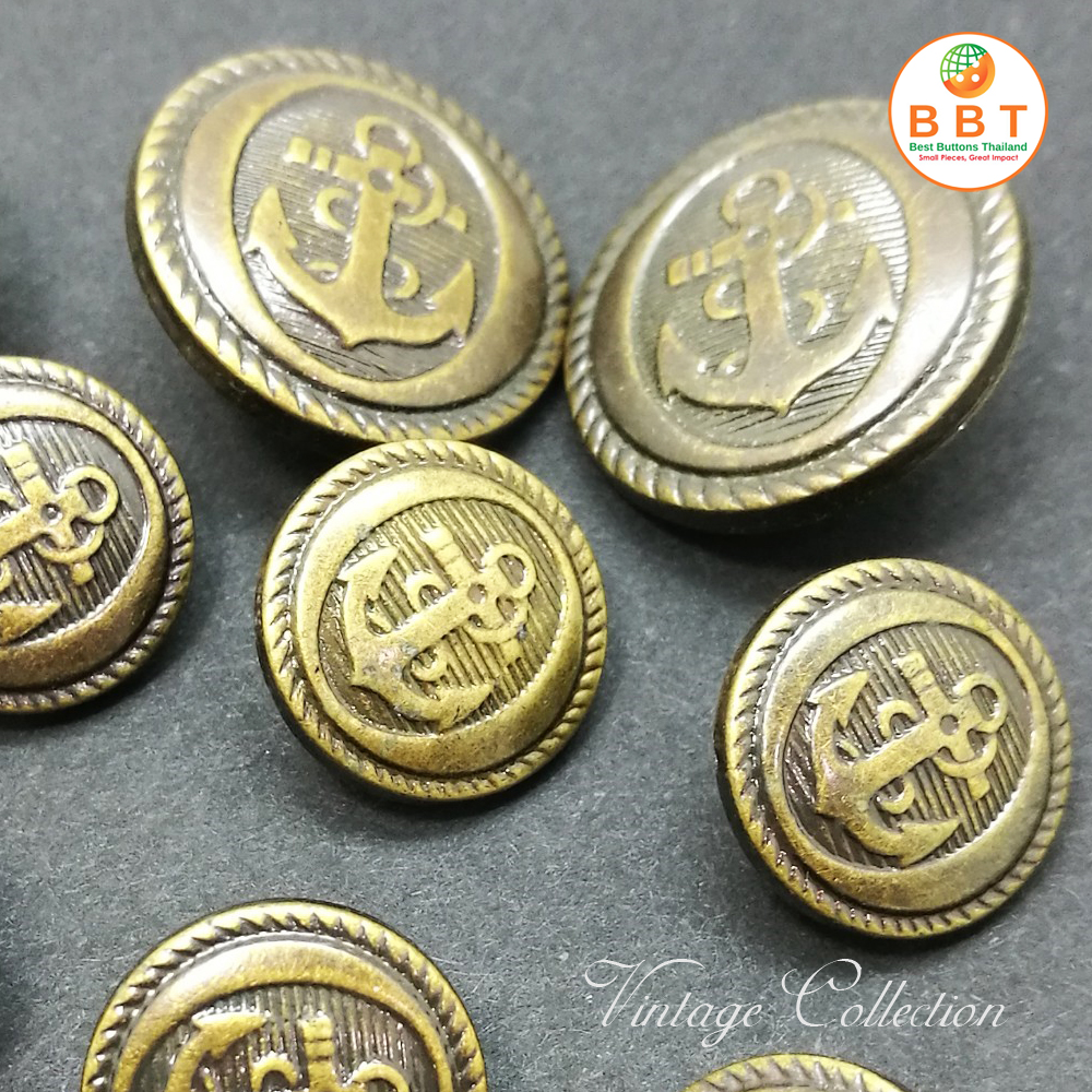Gold Vintage Buttons for Suits (20mm)