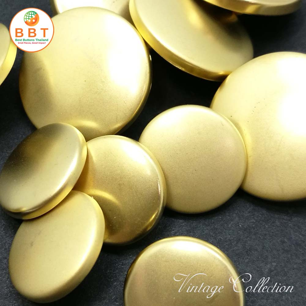 Gold Matte Vintage Buttons 20mm