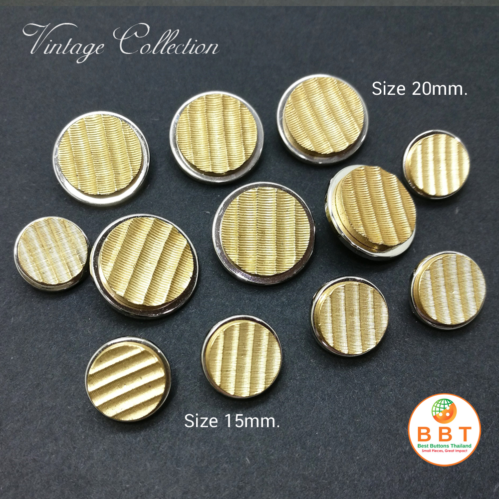 Gold Vintage Buttons 15mm