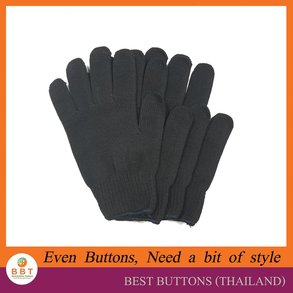 ถุงมือผ้าฝ้าย สีดำ