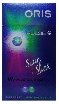 บุหรี่ Oris Blueberry + Menthol Fusion (2 เม็ดบีบ) บลูเบอรี่ มวนเล็ก