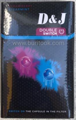 D&J Double Switch บุหรี่พรีเมี่ยม สัญชาติเยอรมัน มี2เม็ดบีช ทั้งสเปียร์สมิ้นต์ เย็นสดชื่น และกลิ่นสตอเบอรี่ หอมหวานละมุล นุ่มไม่แสบคอ เข้ากันลงตัวสุดๆ ขายดีที่สุด ไม่ลองไม่ได้แล้ว D&J Double Switch D&J Double Switch 2 เม็ดบีบ