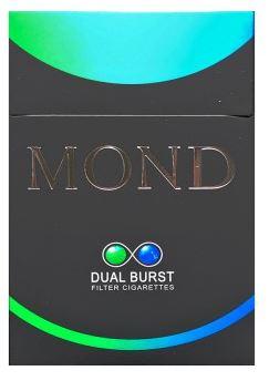 MOND Dual Burst Ice Cool Mint  บุหรี่ม่อน ดูโอ้  2 เม็ดบีบ มีเม็ดเย็นและเม็ดกลิ่นหมากฝรั่ง กลิ่นหอม เย็น มวนใหญ่ดูดง่าย เม็ดบีบ Menthol + เม็ดบีบกลิ่นมิ้นท์  กลิ่นยาเส้นอ่อนมาก เม็ดบีบหอมมิ้นท์   หอมเย็นชื่นใจ