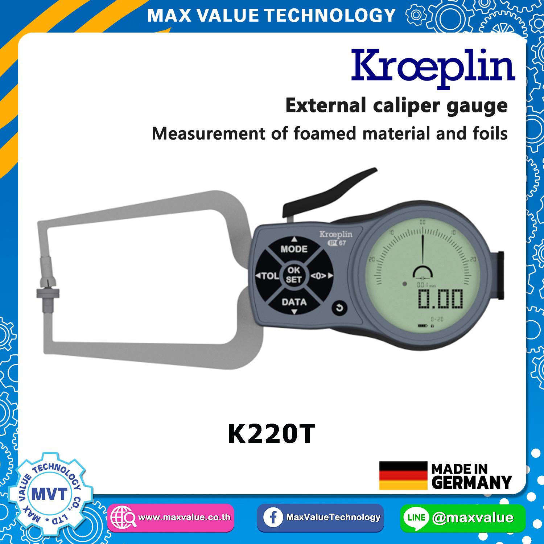 K220T - เขาควายวัดนอก แบบดิจิตอล 0 - 20 มม.