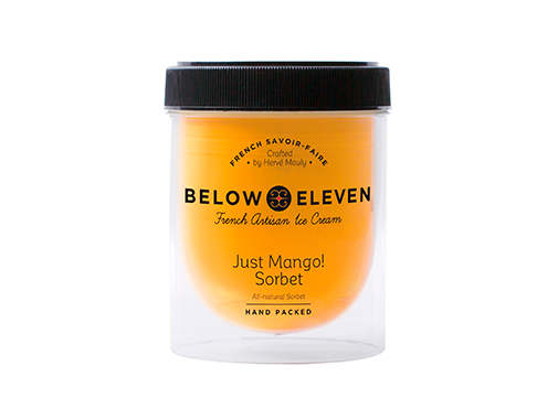 Below 11 Just Mango Sorbet (Pint)