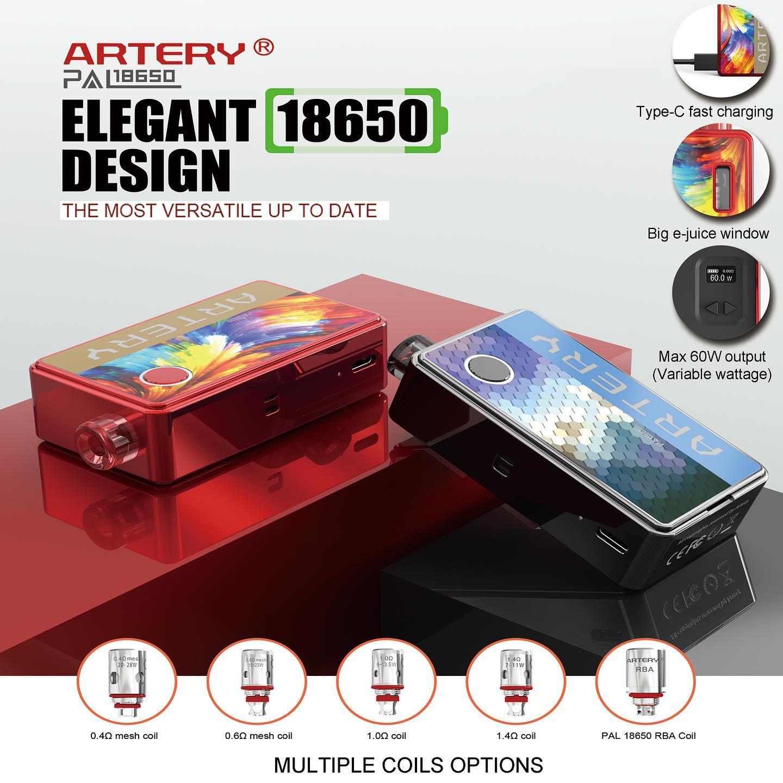 พอต บุหรี่ไฟฟ้า Artery PAL 18650 Pod Mod Kit 60W  [ แท้ ]