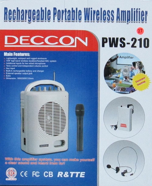 เครื่องขยายเสียงไร้สายแบบหิ้ว (มีUSB) DECCON รุ่น PWS-210U