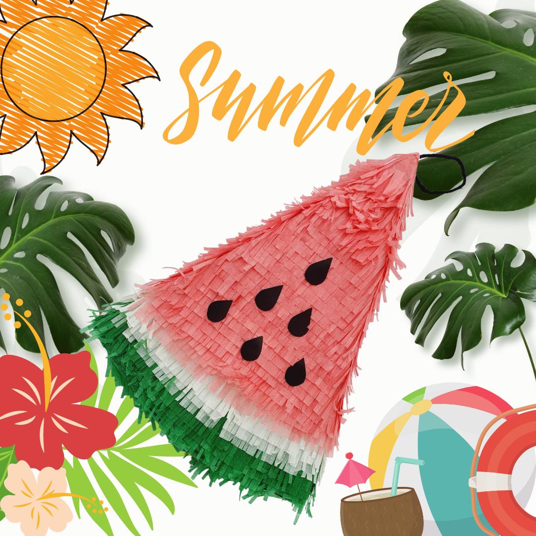 Soft Red Watermelon Piñata