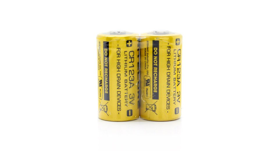 Nitecore Battery CR123 Lithium 2 Pack