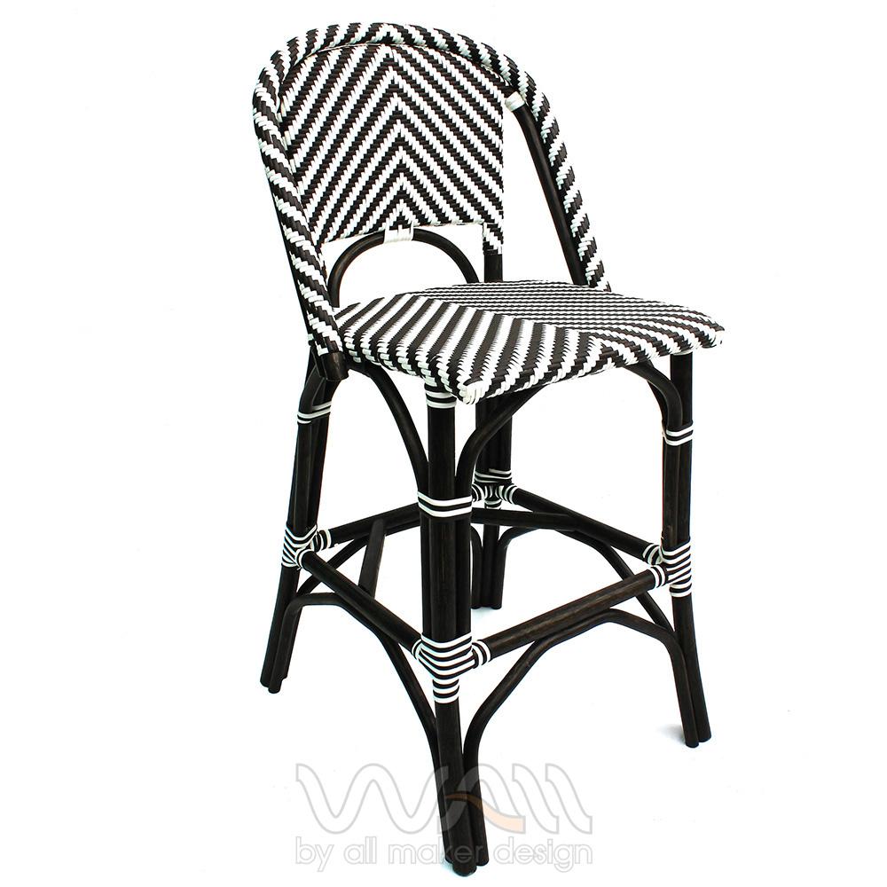 เก้าอี้บาร์หวายเทียม โครงหวายแท้หรืออลูมิเนียม