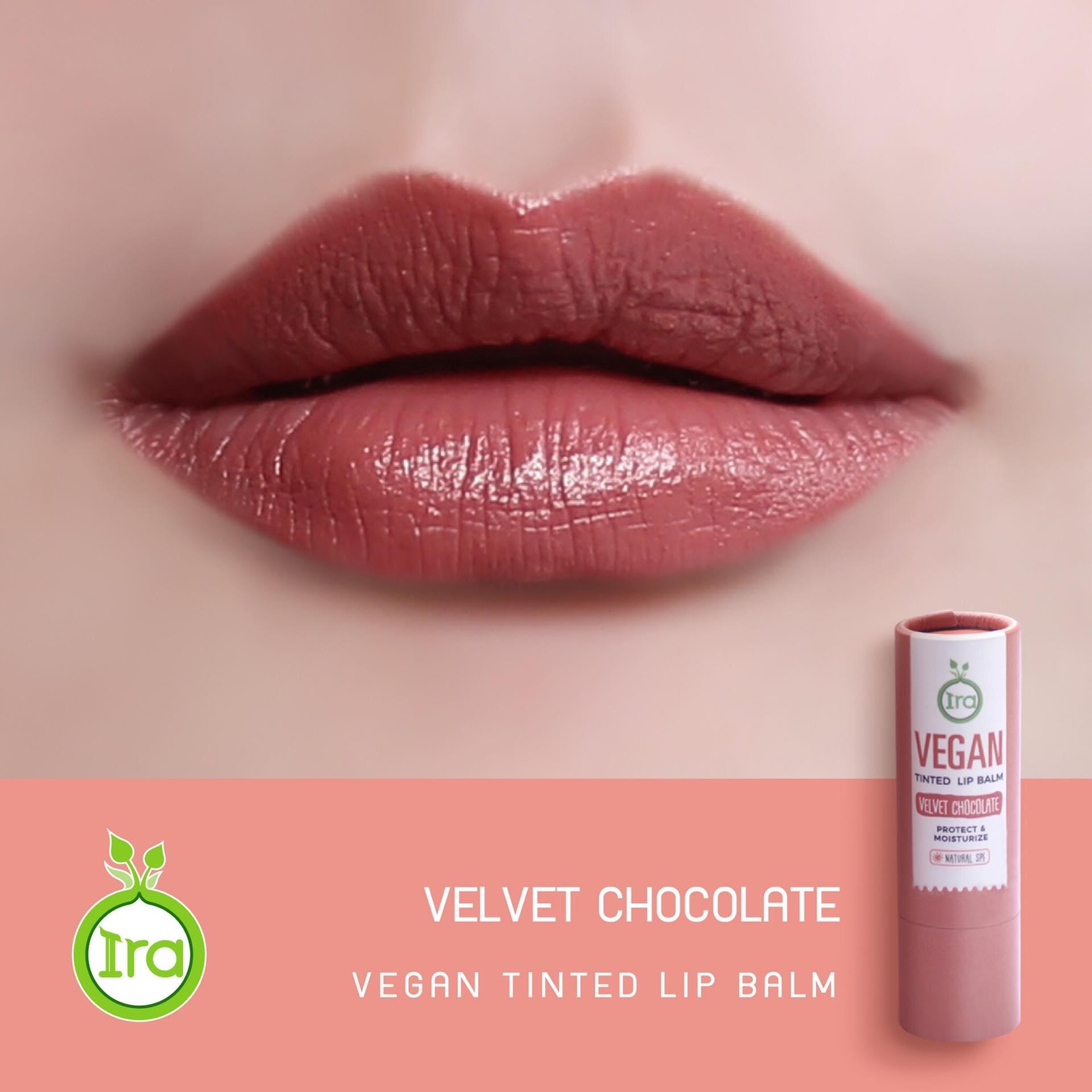 Vegan Tinted Lip Balm: Velvet Chocolate