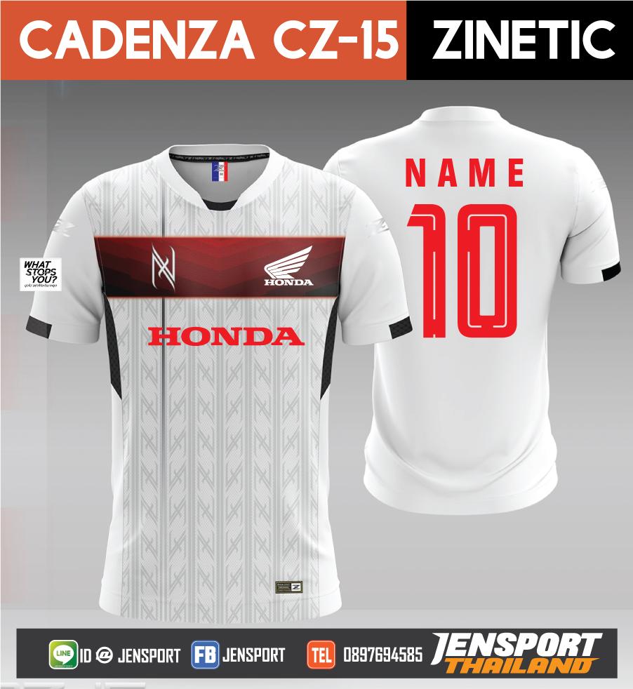 เสื้อ-Cadenza-CZ-15-ทีม-HONDA-ปี-2019 ขาว