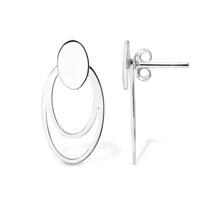 Sterling silver separate earring (oval shape)