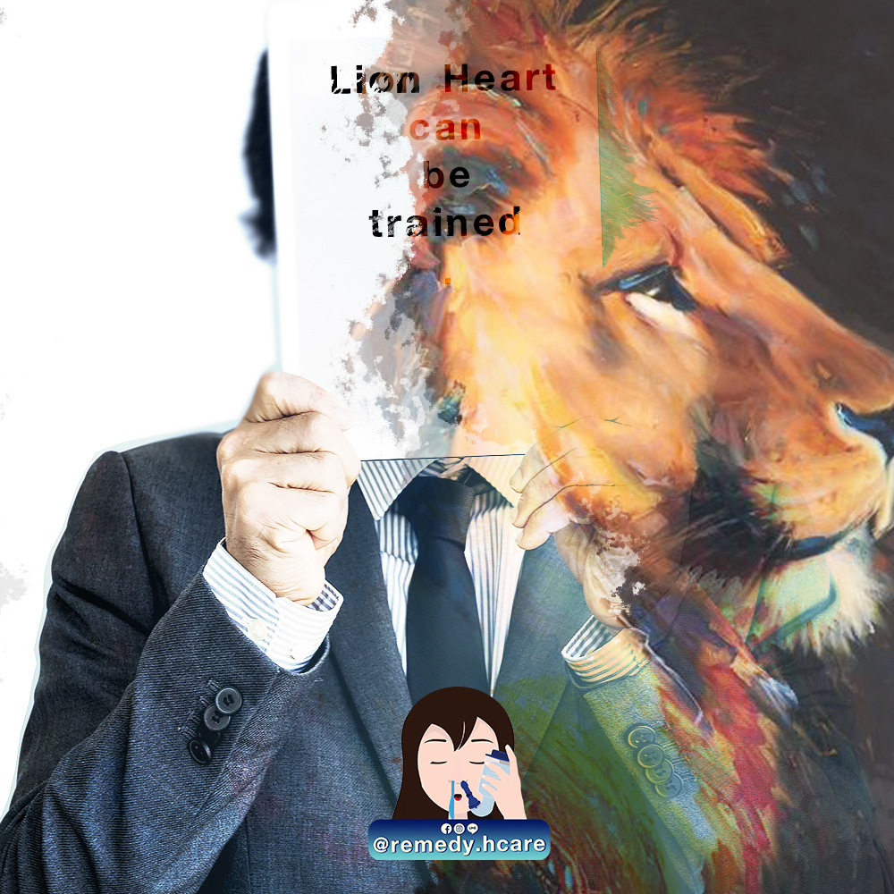 Lion Heart can trained.