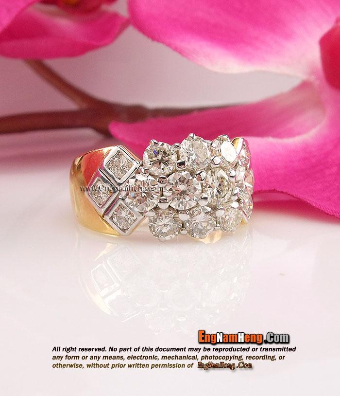 แหวนเพชรแท้เบลเยี่ยมคัต น้ำ 98 VVS1 เพชรสวยมาก หรูสุดๆๆๆๆ