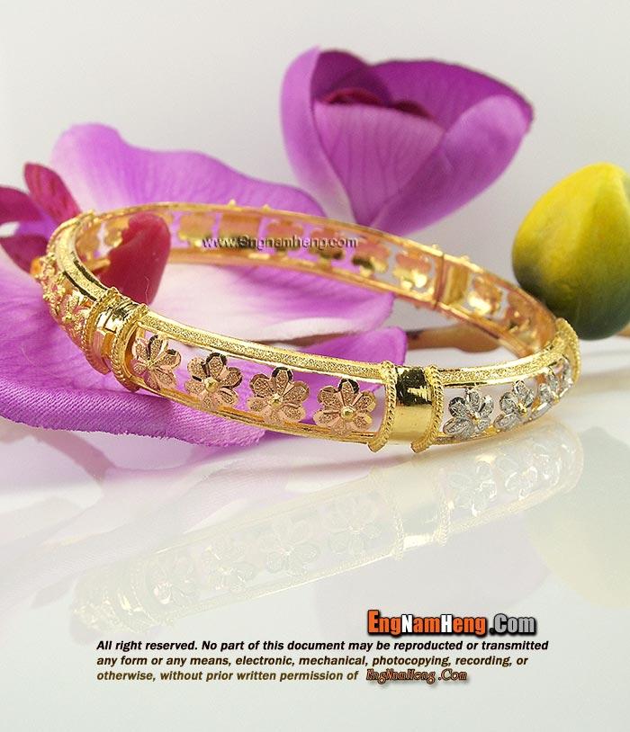 กำไลทอง 96.5% น้ำหนัก 1 บาท ดอกไม้ สวยน่ารักค่ะ