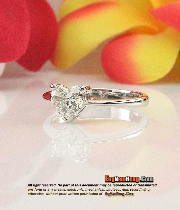 แหวนเพชรแท้ หัวใจ เพชรคัดสวยมากๆ ค่ะ