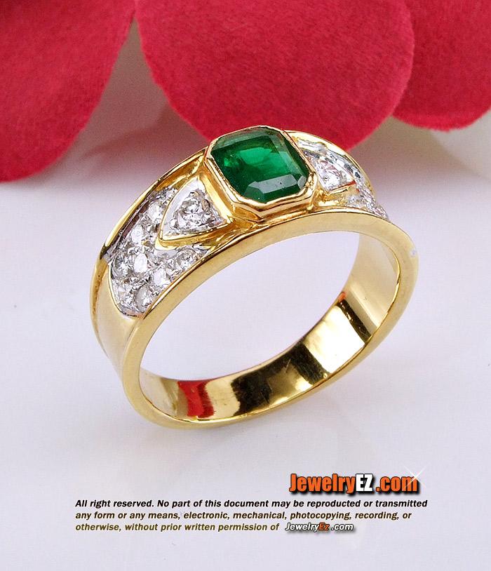 แหวน มรกต ประดับเพชรแท้เบลเยี่ยมคัต ขนาดกำลังดี ใส่ติดนิ้วตลอดวันสบายๆค่ะ