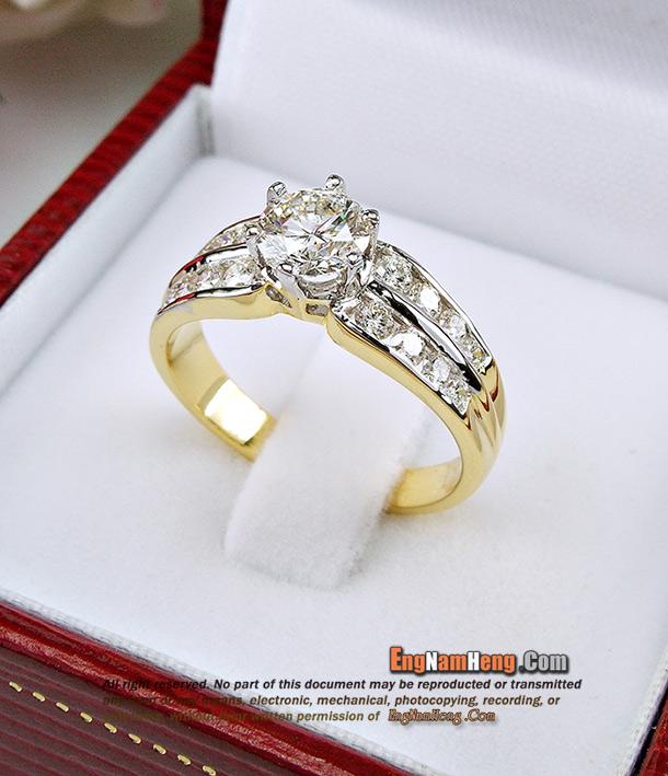 แหวนเพชร เบลเยี่ยมคัท F-Color/VVS1 เพชรสวยคัดคุณภาพ ขาวจั้วค่ะ รูปแบบเรียบร้อยใส่สวย ดูหรูหราค่ะ