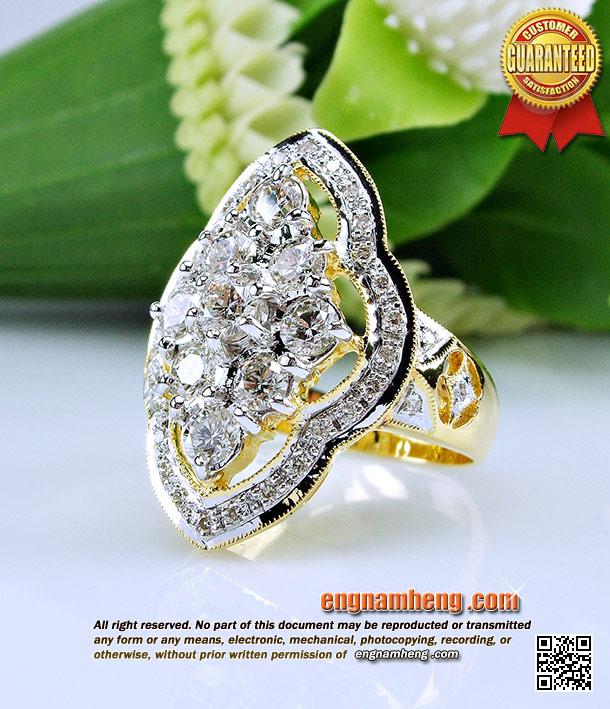 แหวนเพชร เบลเยี่ยมคัท G-Color/VVS1 น้ำหนักเพชร 2.05 กะรัต ทรงข้าวหลามตัด เพชรเม็ดใหญ่ใส่สวยดูหรู ราคาเบาค่ะ