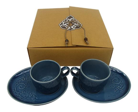 ชุดกาแฟพริ้วสีน้ำเงิน