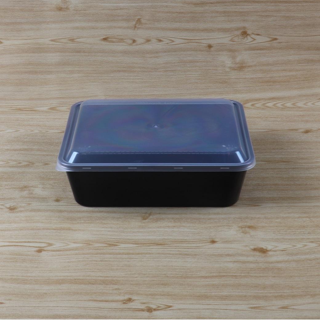 กล่องอาหารเหลี่ยม 2750 ml+ฝาสีใส