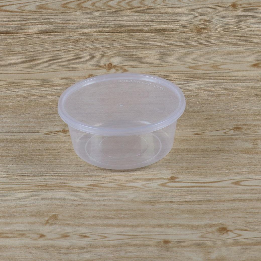 กล่องอาหารกลม VCUP750 ml+ฝาสีใส