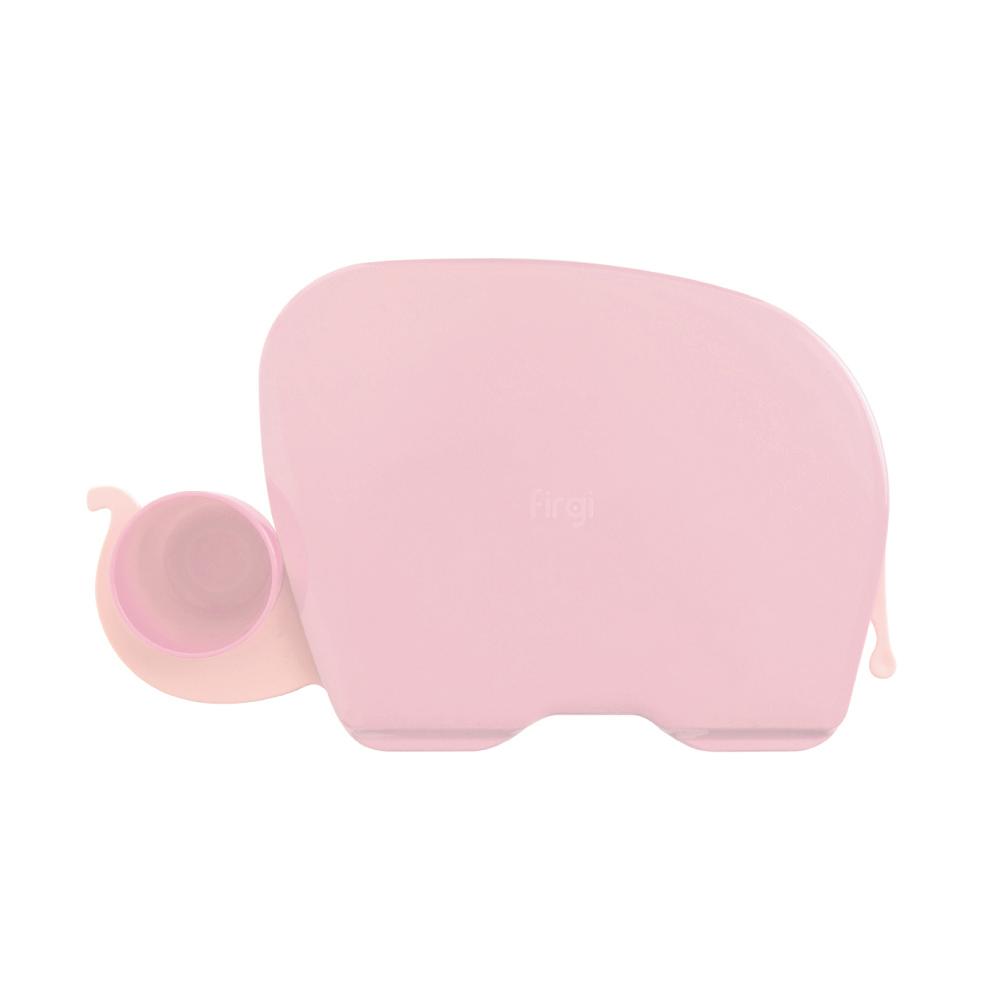 Elephant Food Tray: Pastel Pink
