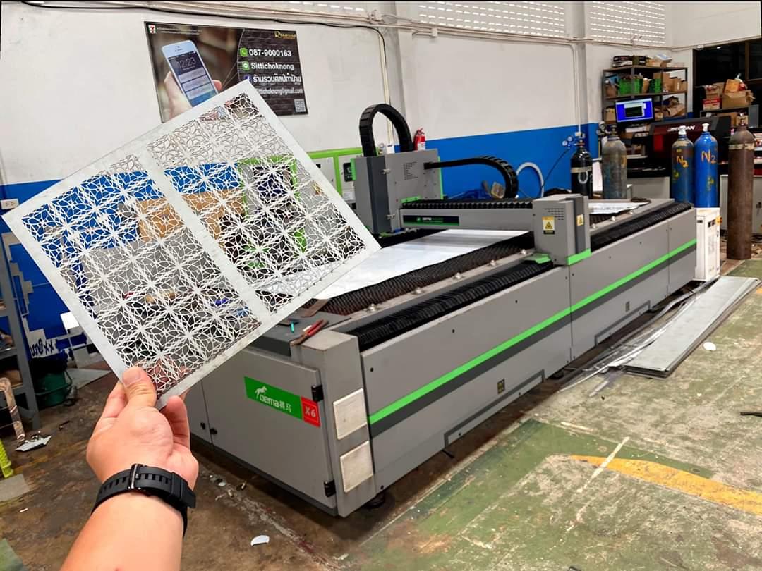 ส่งมอบ fiber laser ยี่ห้อ DEMA-X7 และ ปั้มลมแรงดันสูง 1.6Mpa./20HP. พิกัด สุราษฏร์ธานี
