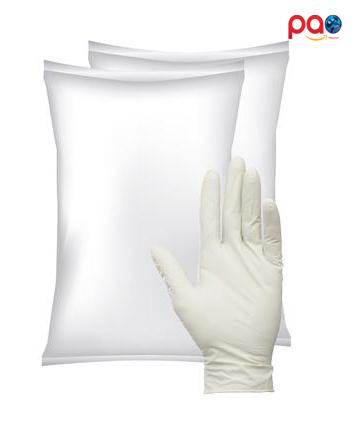ถุงมือยางพารา มีแป้ง ชนิดกระสอบ (สำหรับบรรจุขาย)