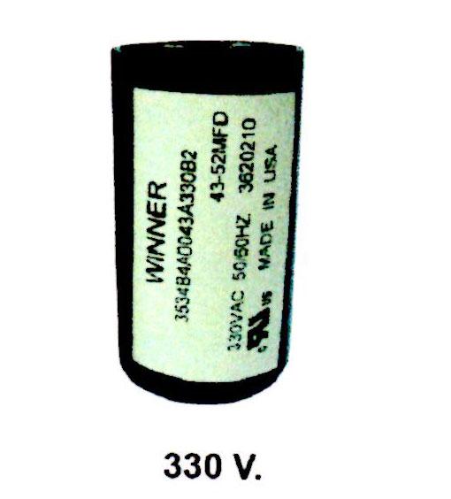 คอนเดนเซอร์สตาร์ทสองค่า 330V