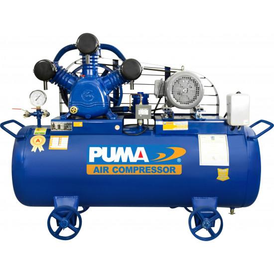 PUMA PP-35A ปั๊มลมสายพาน PUMA PP-35A 5HP 3สูบ ถัง 165 ลิตร