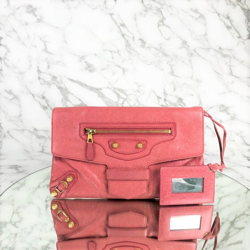 MP-10464 Used Balenciaga Clutch G12 Pink Ghw
