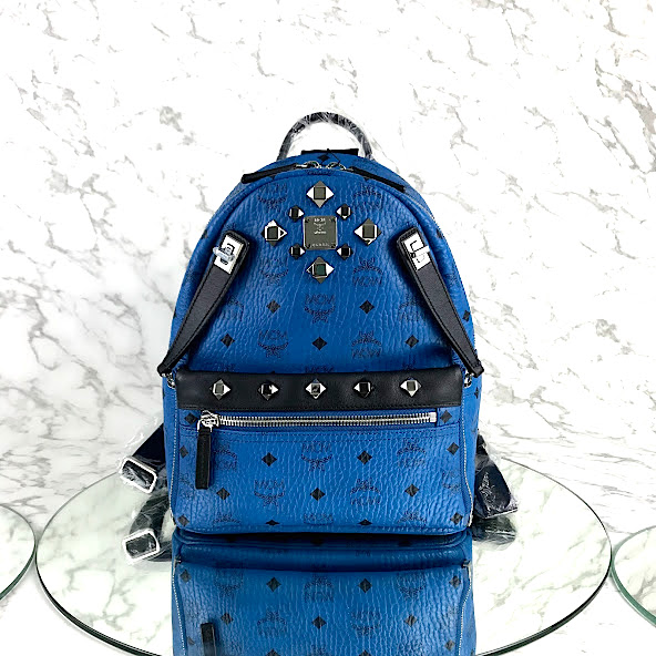 MP-10516 New Mcm Backpack Small Blue/Black Shw