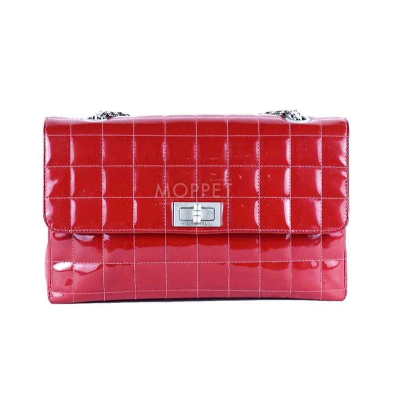 Used Chanel Reissue 226 in Red Patent RHW