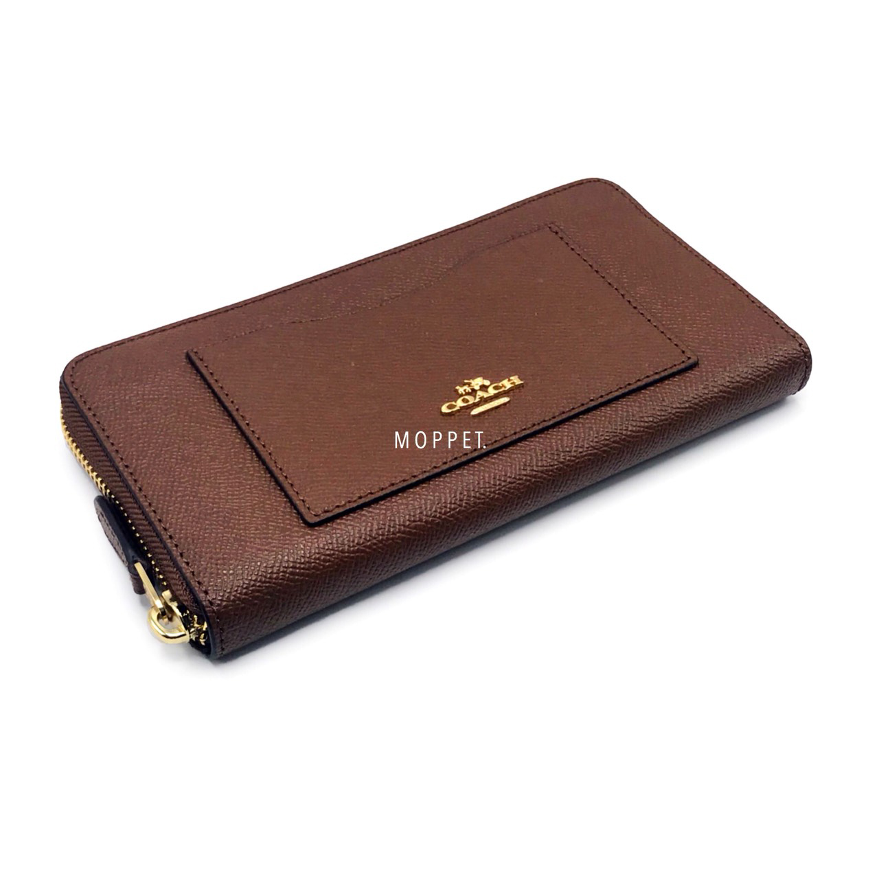 New Coach Accordeon Wallet in Saddle Leather GHW