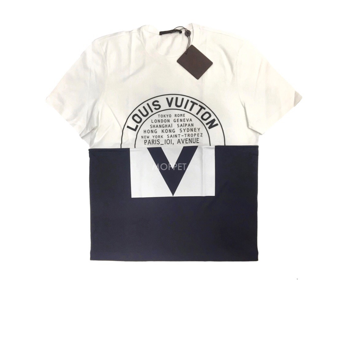 """New LV Printed T-Shirt Size M"""" in Black/White Cotton"""